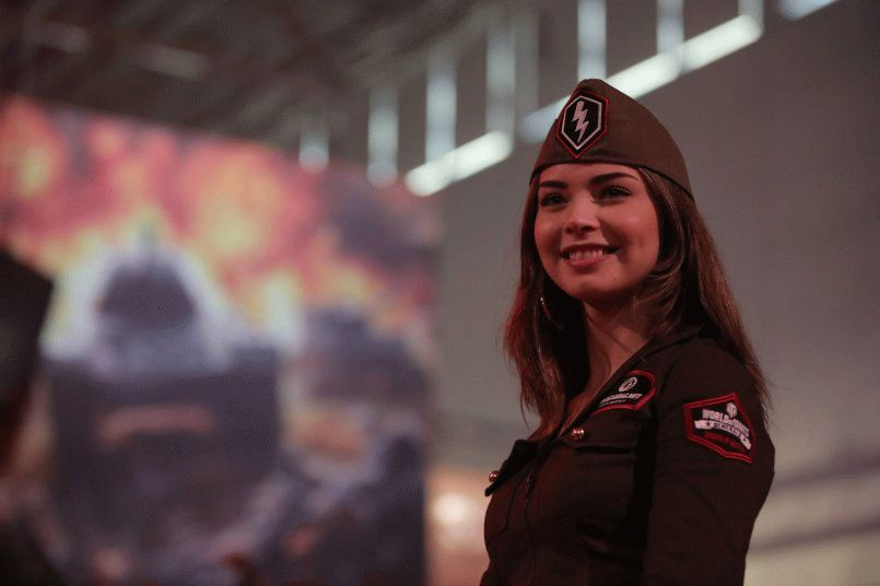 Фотографии со стенда Wargaming.net на выставке Gamescom 2015