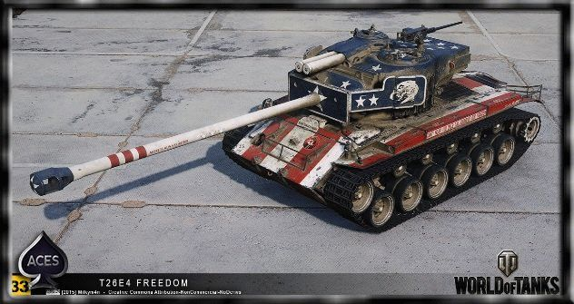 Шкурка T26E4 «Флаг США» для World of Tanks 0.9.10