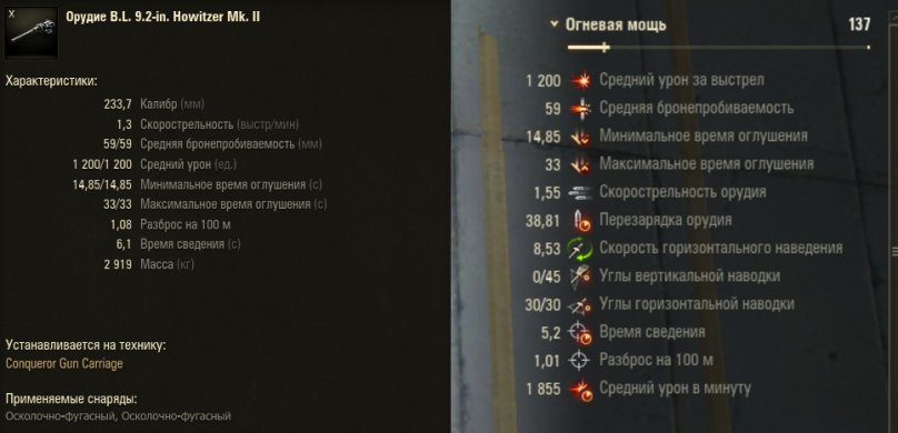 Гайд по Арт-САУ Conqueror Gun Carriage WoT от aces.gg